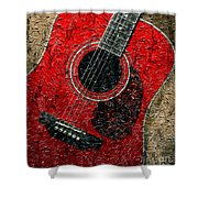 Painted Guitar - Music - Red Shower Curtain