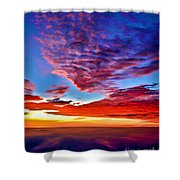 Painted Heavens Shower Curtain