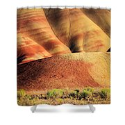 Painted Hills And Grassland Shower Curtain