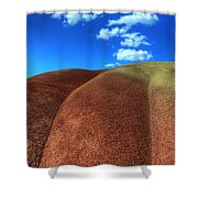 Painted Hills Blue Sky 2 Shower Curtain