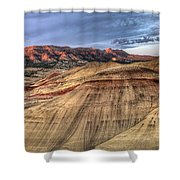 Painted Hills In Oregon Panorama Shower Curtain