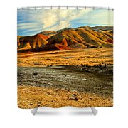 Painted Hills Sunset Shower Curtain