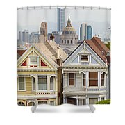 Painted Ladies Row Houses By Alamo Square Shower Curtain