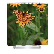 Painted Lady With Friends Shower Curtain