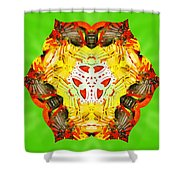 Painted Lotus Xii Shower Curtain