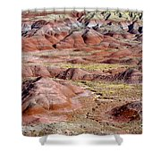 Painted Mounds Shower Curtain