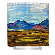 Painted Mountain Shower Curtain
