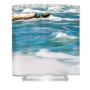 Painted Niagara Shower Curtain