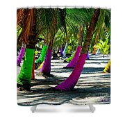 Painted Palms Shower Curtain
