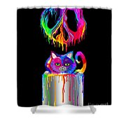 Painted Peace Shower Curtain