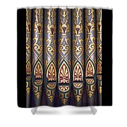 Painted Pipes Shower Curtain
