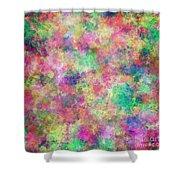 Painted Pixels Shower Curtain