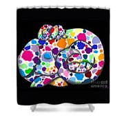 Painted Puppies Shower Curtain