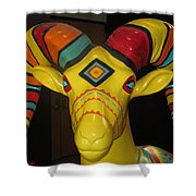 Painted Ram Shower Curtain