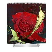 Painted Rose Shower Curtain by M Montoya Alicea