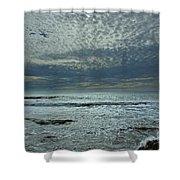 D3a6136-painted Sky Bolinas Ca  Shower Curtain