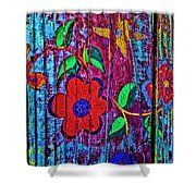 Painted Table Shower Curtain