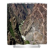 Painted Wall Black Canyon Of The Gunnison Shower Curtain