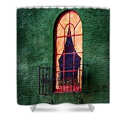 Painted Window Shower Curtain