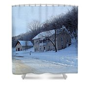 Painted Winter Shower Curtain