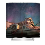 Painterly Northern Lights Shower Curtain
