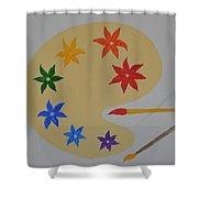Painter's Bliss Shower Curtain