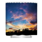 Painter's Sunset Shower Curtain