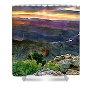 Painting Of Desert View Grand Canyon Shower Curtain