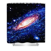 Painting Of Galaxy Shower Curtain