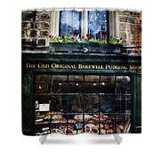 Can You See The Ghost In The Top Window At The Old Original Bakewell Pudding Shop Shower Curtain