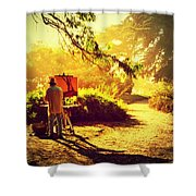 Painting The Path Shower Curtain