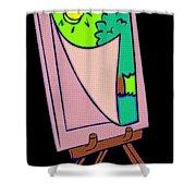Painting Veil Canvas Shower Curtain