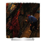 Painting Walls Shower Curtain