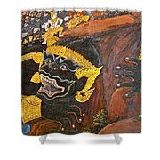 Paintings On Wall Of Middle Court Hall Of Grand Palace Of Thailand Shower Curtain