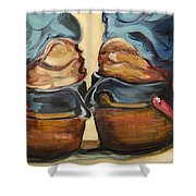 Pair Of Boots Shower Curtain