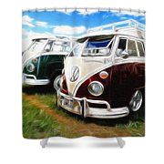 Pair Of Busses Shower Curtain