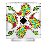 Paisley Flower Abstract Viii Shower Curtain