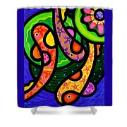 Paisley Pond - Vertical Shower Curtain