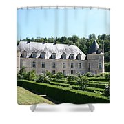 Palace And Garden Bussy Rabutin - Burgundy Shower Curtain
