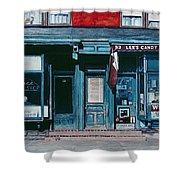 Palace Barber Shop And Lees Candy Store Shower Curtain