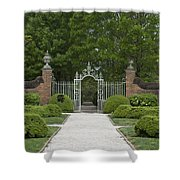 Palace Garden Gate Shower Curtain