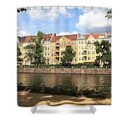 Palace Garden View Shower Curtain