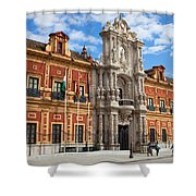 Palace Of San Telmo In Seville Shower Curtain
