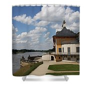 Palace Pillnitz And River Elbe Shower Curtain