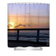 Palanga Sea Bridge At Sunset. Lithuania Shower Curtain