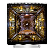 Palau Guell Ceiling Shower Curtain