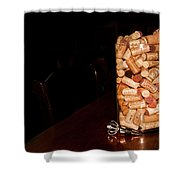 Palaver Corks Shower Curtain