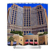 Palazzo Las Vegas Front View Shower Curtain