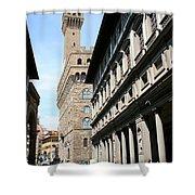 Palazzo Vecchio And Uffizien Shower Curtain