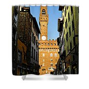 Palazzo Vecchio In Florence Italy Shower Curtain